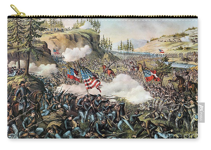 1863 Carry-all Pouch featuring the photograph Battle Of Chickamauga 1863 by Granger