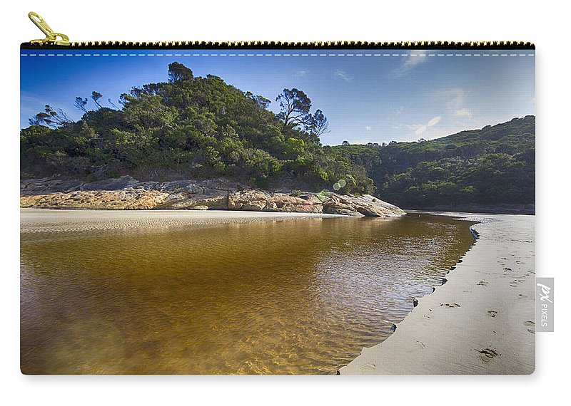 Tidal River Carry-all Pouch featuring the photograph Beach Erosion by Douglas Barnard