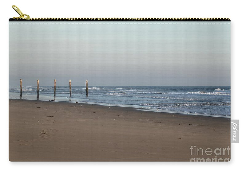 Beach Carry-all Pouch featuring the photograph Beach Fence by Henrik Lehnerer