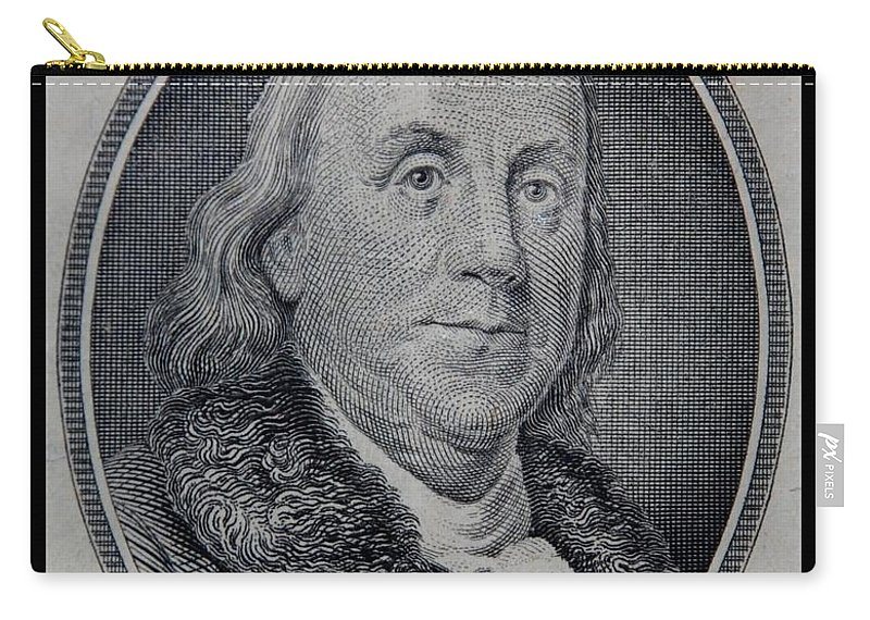 Ben Franklin Carry-all Pouch featuring the photograph Ben Franklin by Rob Hans