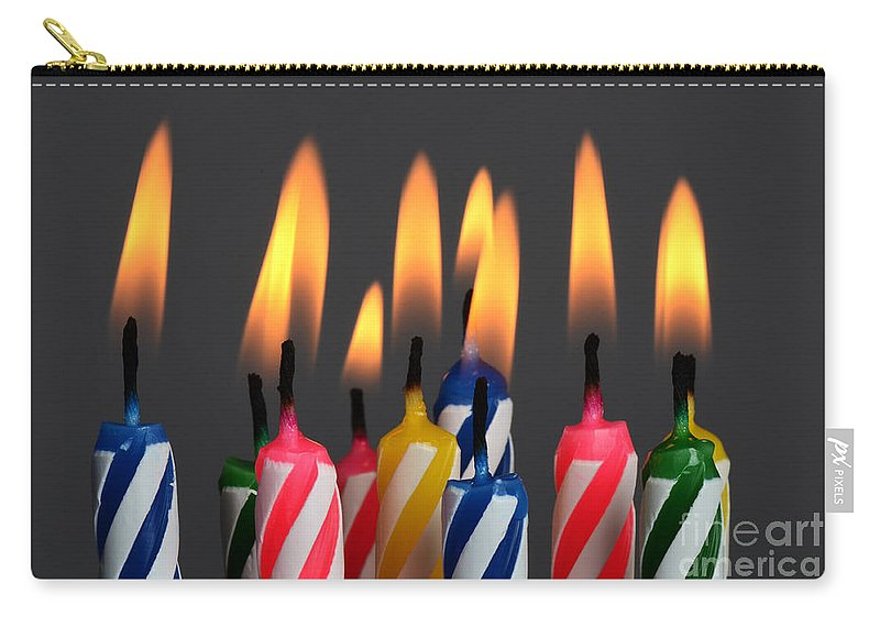 Candle Carry-all Pouch featuring the photograph Birthday Candles by Photo Researchers, Inc.