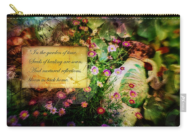Flower Photography Carry-all Pouch featuring the photograph Bloom Home by La Rae Roberts