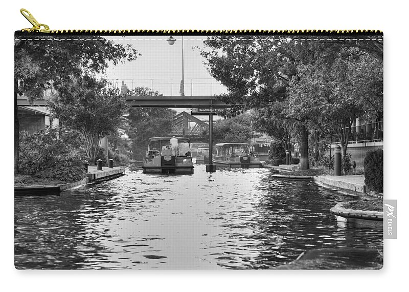 Bricktown Carry-all Pouch featuring the photograph Bricktown Canal by Ricky Barnard