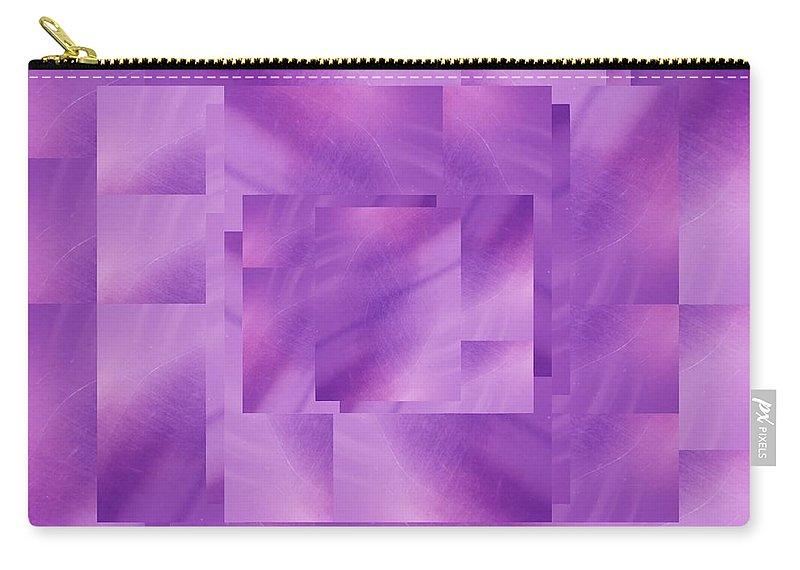 Abstract Carry-all Pouch featuring the digital art Brushed Purple Violet 3 by Tim Allen