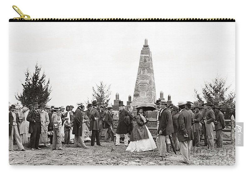 1865 Carry-all Pouch featuring the photograph Bull Run Monument, 1865 by Granger