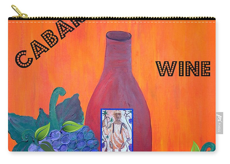 Cabaret Carry-all Pouch featuring the painting Cabaret Wine by Cynthia Amaral