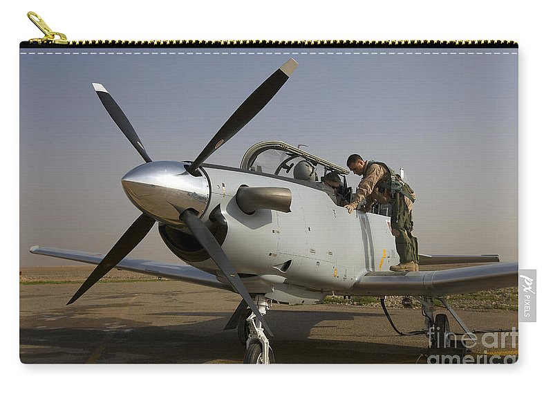Canopy Carry-all Pouch featuring the photograph Camp Speicher, Iraq - U.s. Air Force by Terry Moore