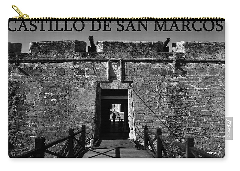 Fine Art Photography Carry-all Pouch featuring the photograph Castillo De San Marcos by David Lee Thompson