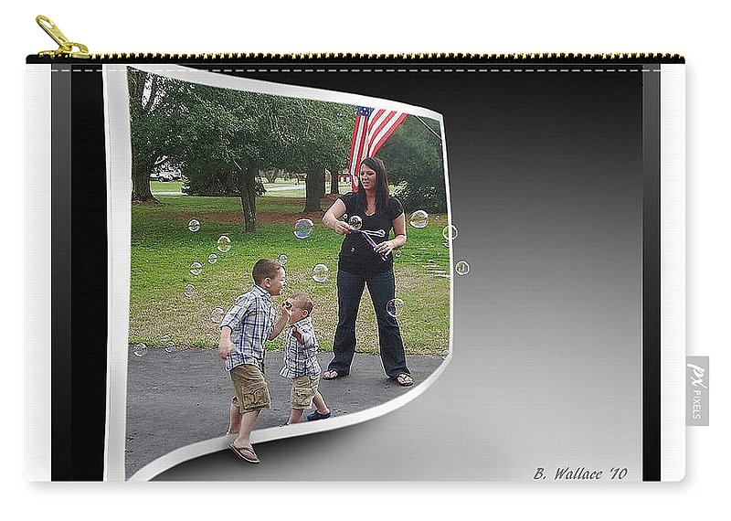 2d Carry-all Pouch featuring the photograph Chasing Bubbles by Brian Wallace