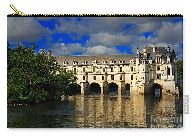 Chateau Carry-all Pouch featuring the photograph Chateau Chenonceau by Louise Heusinkveld