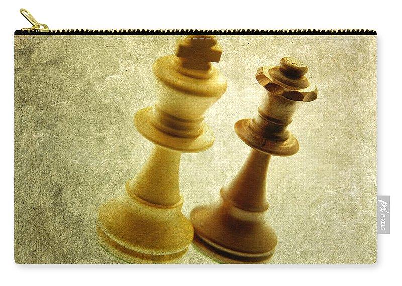 Chess Carry-all Pouch featuring the photograph Chess Pieces by Bernard Jaubert