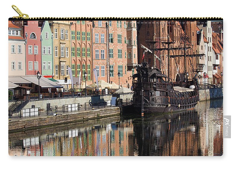 Gdansk Carry-all Pouch featuring the photograph City Of Gdansk by Artur Bogacki