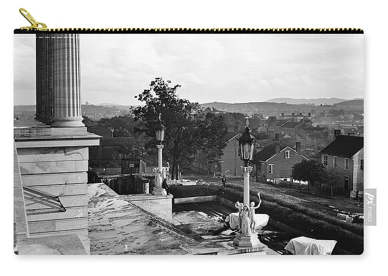 1864 Carry-all Pouch featuring the photograph Civil War: Nashville, 1864 by Granger