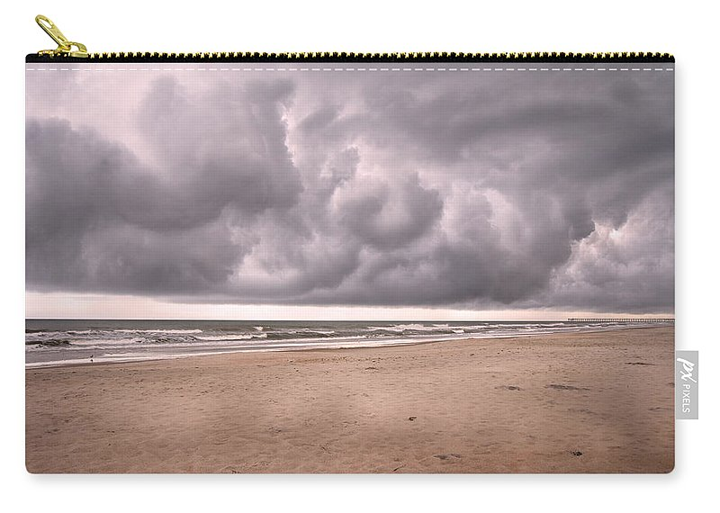 Topsail Carry-all Pouch featuring the photograph Coastal Storm by Betsy Knapp