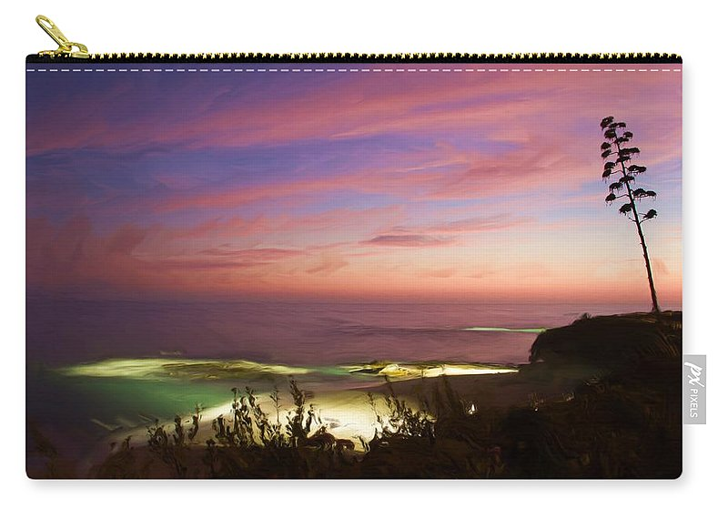 California Carry-all Pouch featuring the photograph Coastal Sunset by Heidi Smith