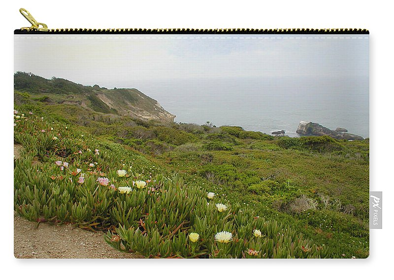Ocean Carry-all Pouch featuring the photograph Coastal View Mist by Kathleen Grace