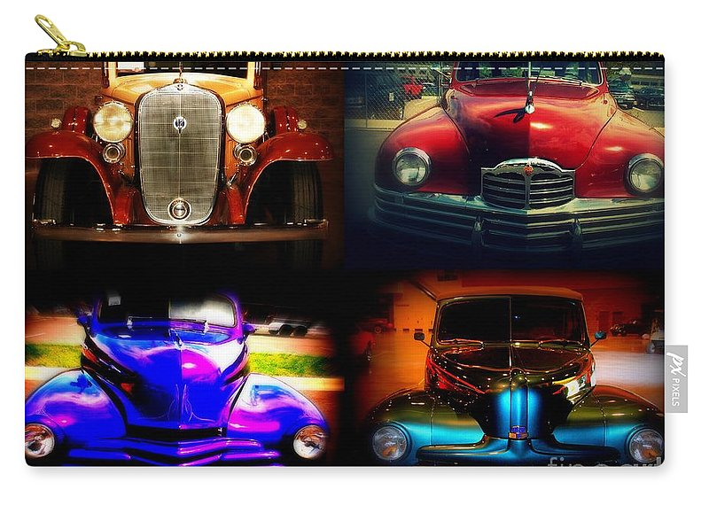 Old Timer Carry-all Pouch featuring the photograph Collector Cars by Susanne Van Hulst