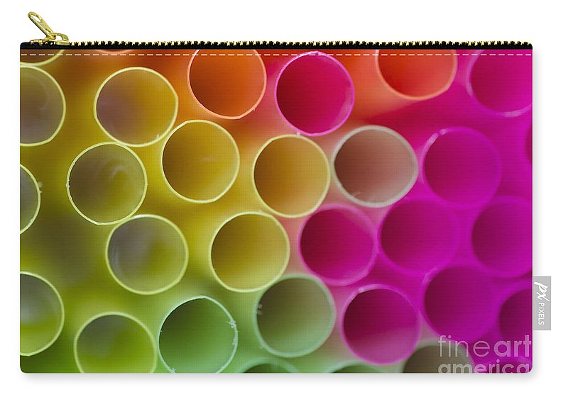 Straws Carry-all Pouch featuring the photograph Colorful Straws by Mats Silvan