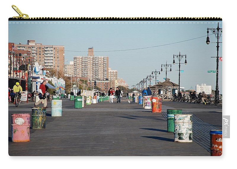 Brooklyn Carry-all Pouch featuring the photograph Coney Island Boardwalk by Rob Hans