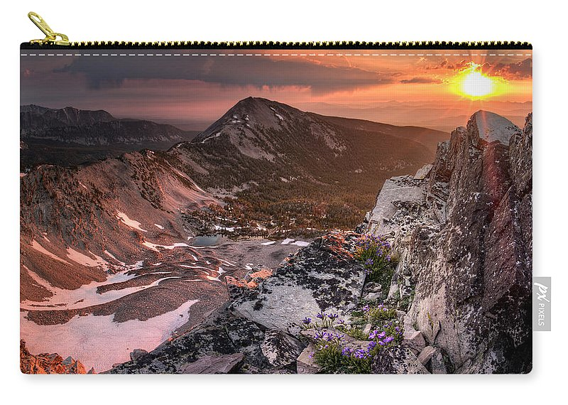 Altitude Carry-all Pouch featuring the photograph Continental Divide by Leland D Howard