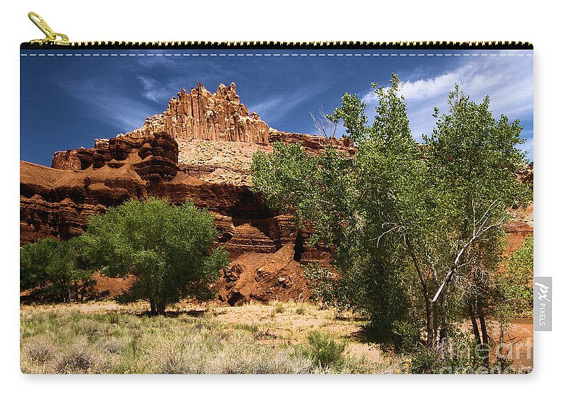 Cottonwood Trees Carry-all Pouch featuring the photograph Cottonwood Castle by Adam Jewell