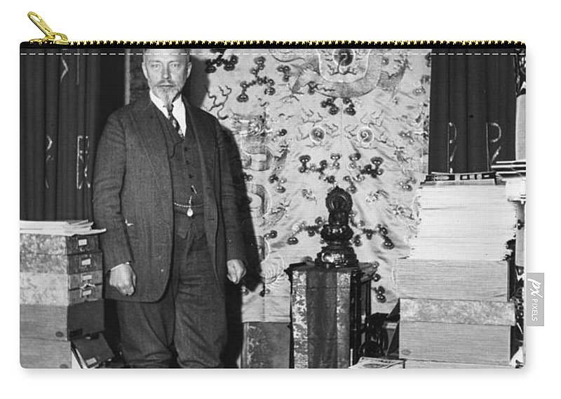 1935 Carry-all Pouch featuring the photograph Count Keyserling (1880-1946) by Granger