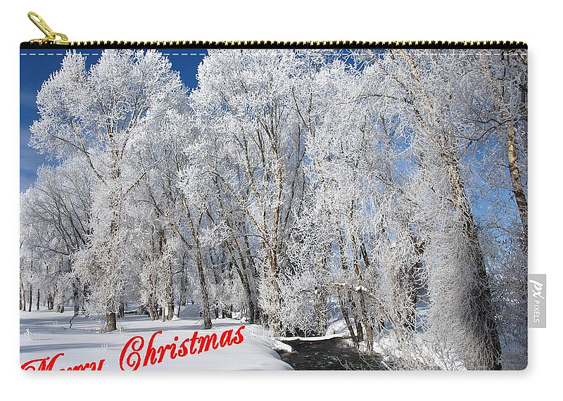 Christmas Carry-all Pouch featuring the photograph Country Christmas 1 by DeeLon Merritt