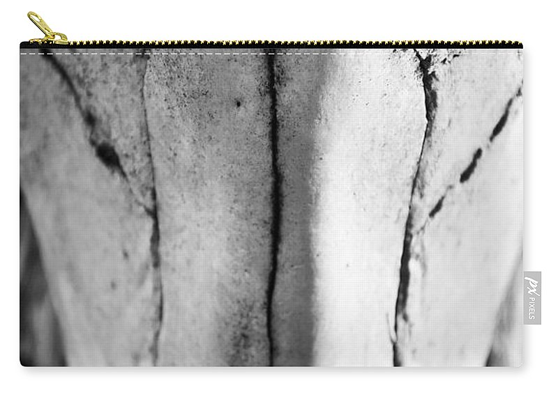Black Carry-all Pouch featuring the photograph Cow Skull by Kacy Taylor