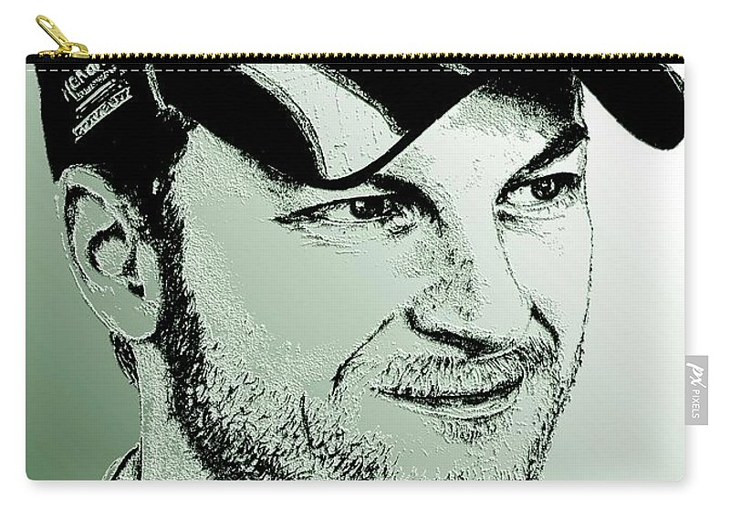 Athlete Carry-all Pouch featuring the digital art Dale Earnhardt Jr In 2009 by J McCombie