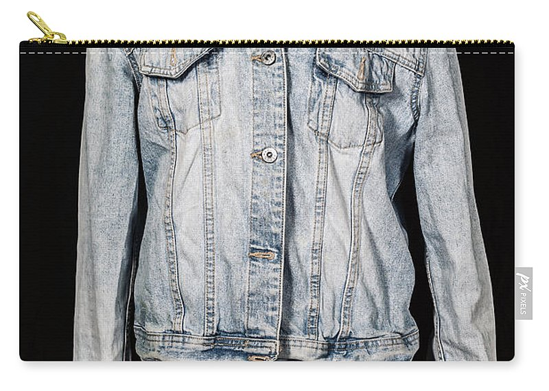 Jeans Carry-all Pouch featuring the photograph Denim Jacket by Joana Kruse