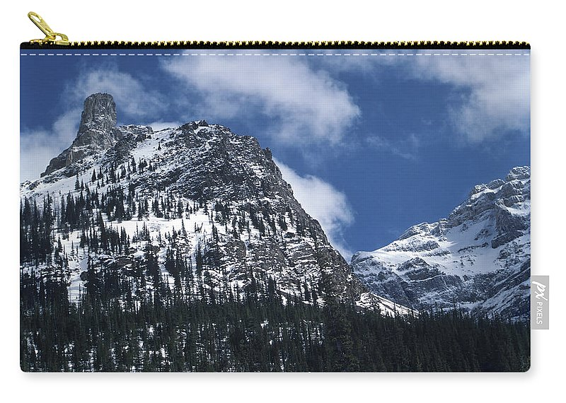 Blue Sky Carry-all Pouch featuring the photograph Devil's Thumb by Roderick Bley