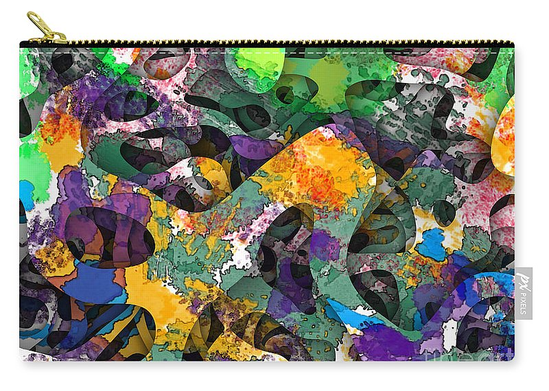 Abstract Carry-all Pouch featuring the digital art Dont Fall On The Road 3d Abstract I by Debbie Portwood