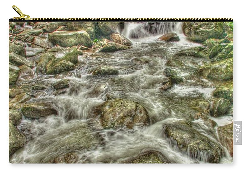 Stream Carry-all Pouch featuring the photograph Downhill Rush by Myrna Bradshaw