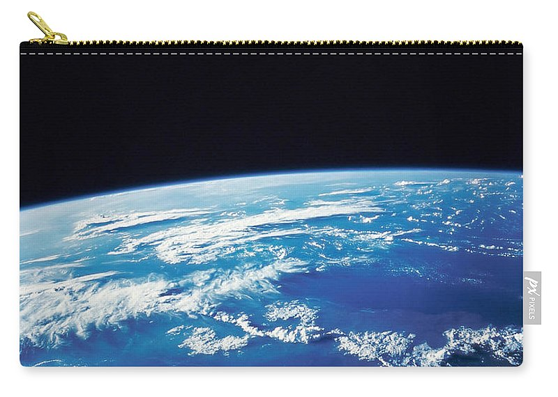 Color Image Carry-all Pouch featuring the photograph Earth From Space by Stocktrek Images