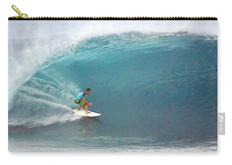 Hawaii Carry-all Pouch featuring the photograph Eco Perfect Pipeline by Kevin Smith
