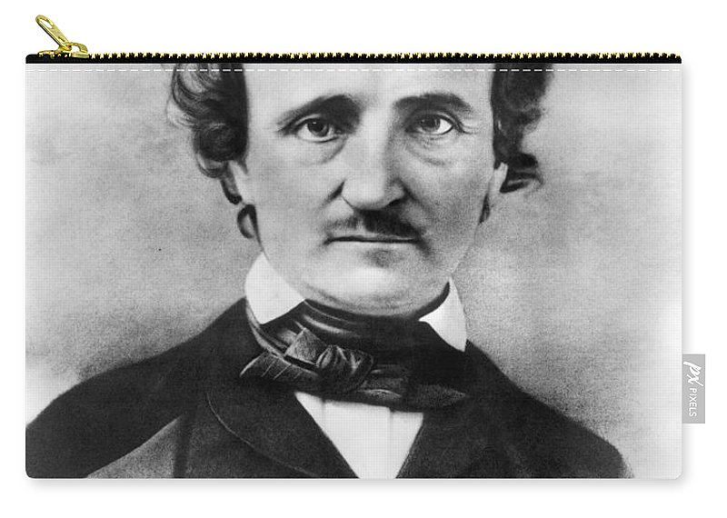 19th Century Carry-all Pouch featuring the photograph Edgar Allan Poe by Granger