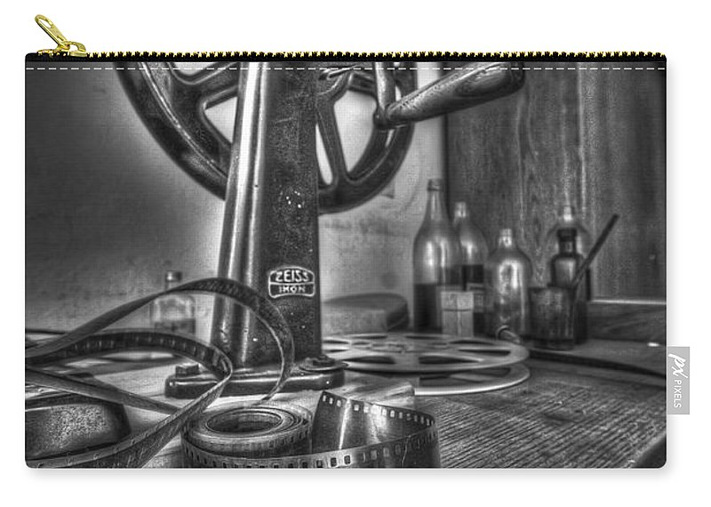 Abandoned Carry-all Pouch featuring the photograph Editing Room 1 by Nathan Wright