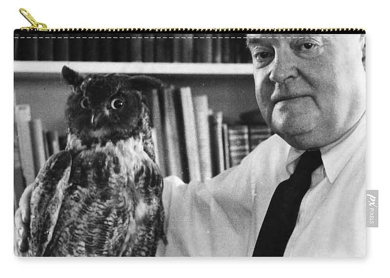 20th Century Carry-all Pouch featuring the photograph Edmund Wilson (1895-1972) by Granger