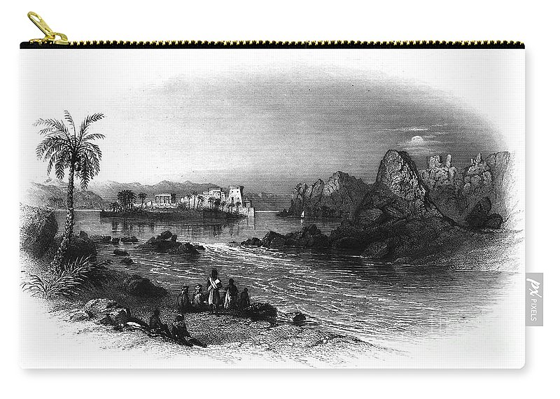 1849 Carry-all Pouch featuring the photograph Egypt: Island Of Philae by Granger