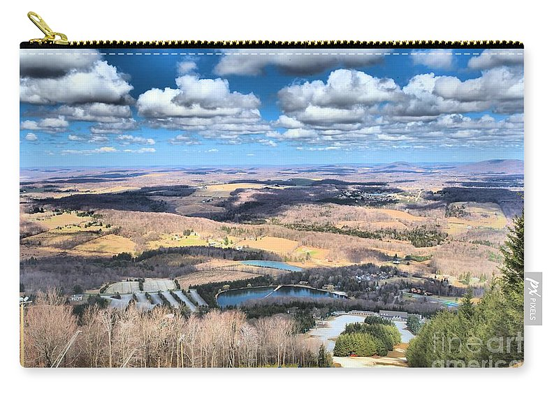 Spring Skiing Carry-all Pouch featuring the photograph Endless Mountains by Adam Jewell