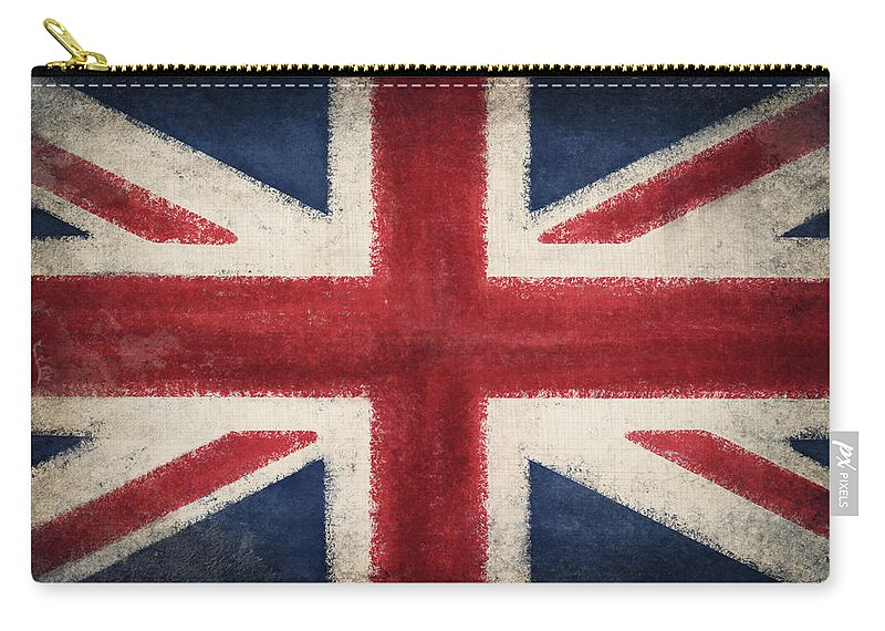 Abstract Carry-all Pouch featuring the photograph England Flag by Setsiri Silapasuwanchai