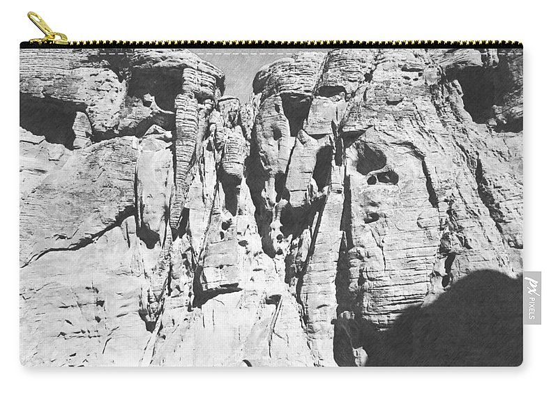 Desert Carry-all Pouch featuring the photograph Eroded Sandstone Cliffs by Frank Wilson