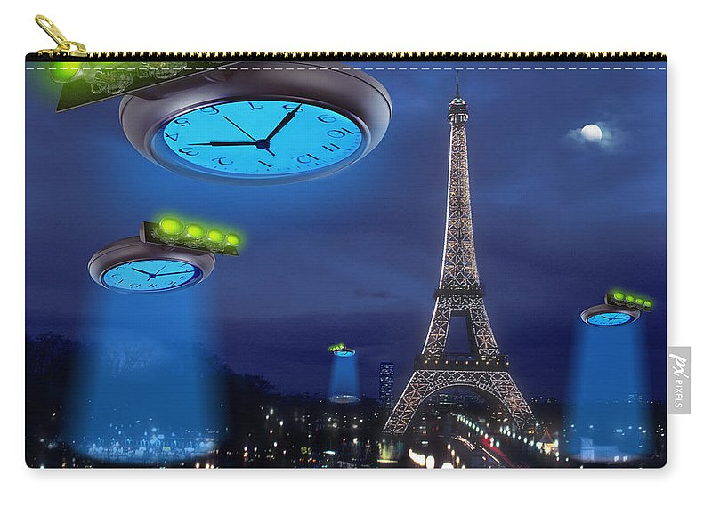 European Time Traveler Carry-all Pouch featuring the photograph European Time Traveler by Mike McGlothlen
