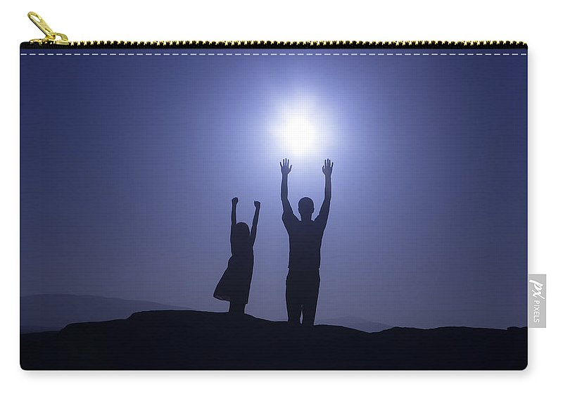 Two Carry-all Pouch featuring the photograph Father And Daughter by Joana Kruse