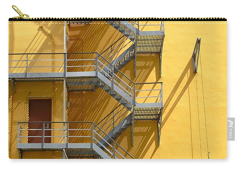 Fire Carry-all Pouch featuring the photograph Fire Escape by Rudy Umans