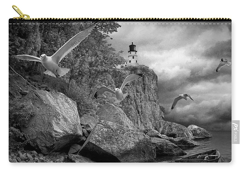 Art Carry-all Pouch featuring the photograph Fleeing The Coming Storm by Randall Nyhof
