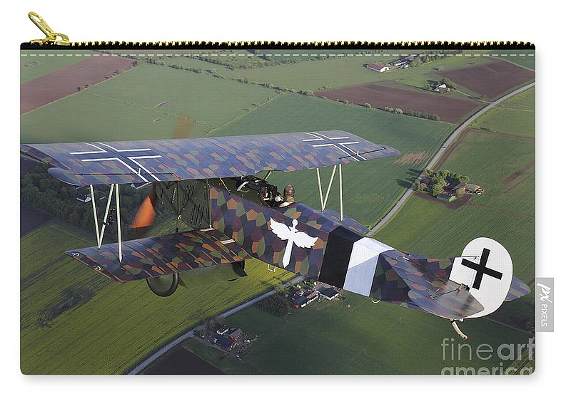 Transportation Carry-all Pouch featuring the photograph Fokker D.vii World War I Replica by Daniel Karlsson