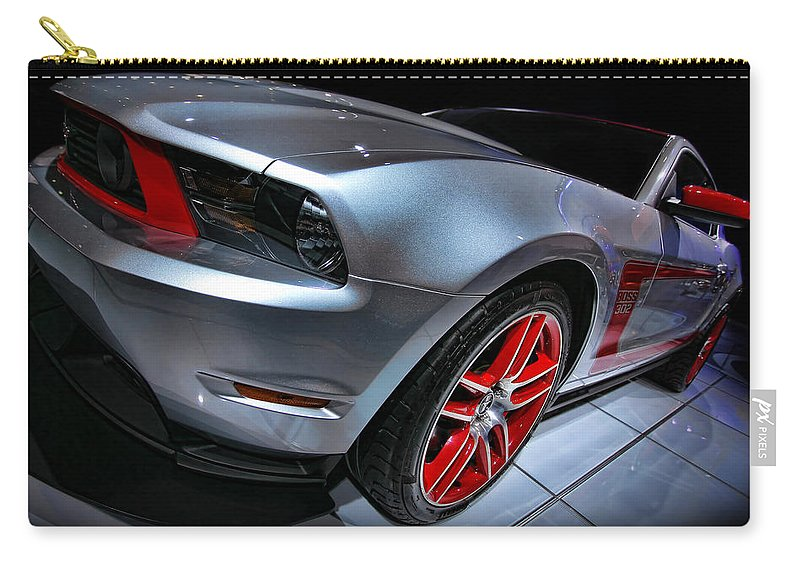 2011 Carry-all Pouch featuring the photograph Ford Mustang - Boss 302 by Gordon Dean II