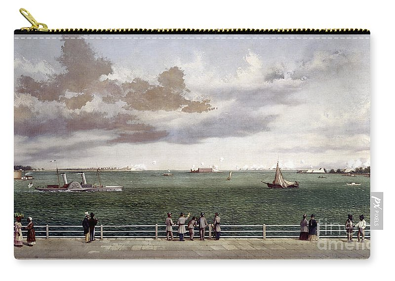 1861 Carry-all Pouch featuring the photograph Fort Sumter, 1861 by Granger