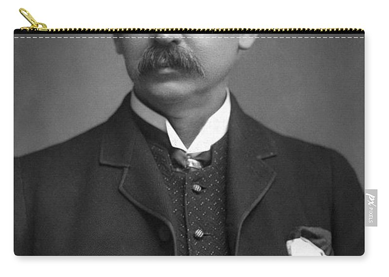 1890 Carry-all Pouch featuring the photograph Francis Brett Harte by Granger